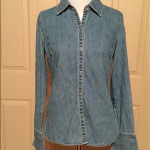 Old Navy Size Small pre loved denim snap closure